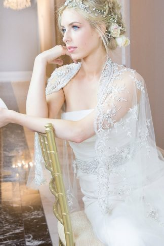 Capelet Gown